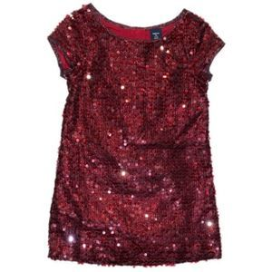 GAP Dark Red Sequin Dress Size XS  4/5